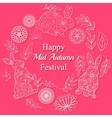 Mid autumn festival card vector image