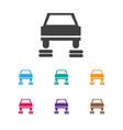 of car symbol on service icon vector image
