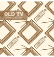 Old TV seamless pattern vector image