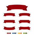 Red Ribbons Isolated on White Background vector image