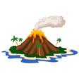 Volcanic island vector image