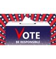 Vote Ballot and politics vector image