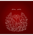 beard santa red background vector image