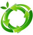 logo recycling vector image vector image