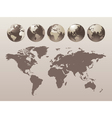 World Globe Map vector image vector image