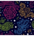 Bright seamless pattern in paisley style vector image vector image