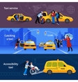 Banners Set Of Taxi Service vector image