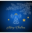 abstract christmas card on blue background vector image