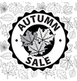 Autumn discounts sale Black and white vector image