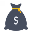 Black Money Bag vector image