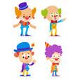 cartoon clowns vector image