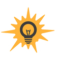 Different light bulb icon collection vector image