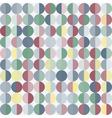Geometric abstract background with circles vector image