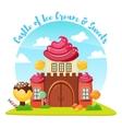 Ice Cream Castle Composition vector image