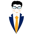 Icon men in suit vector image