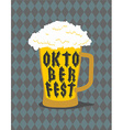 Oktoberfest Mug Beer typography Alcohol for vector image