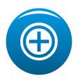 plus icon blue vector image