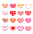Set of valentine love hearts vector image