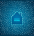 smart house abstract background vector image