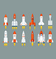 space rocket start up launch symbol innovation vector image