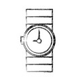 wristwatch isolated symbol vector image