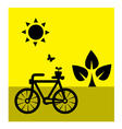 Ecology cycling vector image vector image