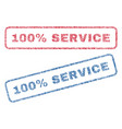 100 percent service textile stamps vector image
