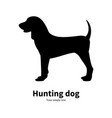 black silhouette hunting dog vector image