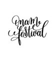 onam festival hand lettering calligraphy holiday vector image