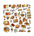 set of books sketch for your design vector image vector image