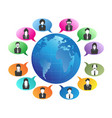 business people communication around the world vector image vector image