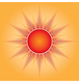 The sun vector image vector image