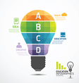 infographic Template geometric Light bulbs banner vector image vector image