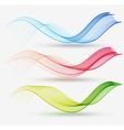 Abstract colorful transparent wave vector image vector image