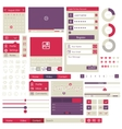 user interface flat design elements vector image vector image