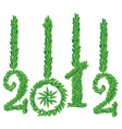 happy new year 2012 greeting card vector image vector image