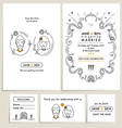 SET OF WEDDING INVITATION CARDS vector image vector image