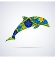 Dolphin with Mandala Patterns vector image