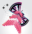 Abstract arrow design vector image