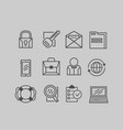 business icons on a gray background vector image