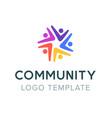 community logo teamwork social logo partnership vector image