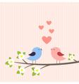 Couple of birds in love vector image