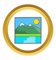 Drawing mountain landscape icon vector image