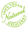 Green 100 Vegan All Natural Icon Sticker Badge vector image