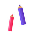pink and purple pencils vector image