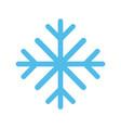 snowflake winter icon image vector image