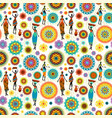fashion seamless texture with colorful arabesques vector image vector image