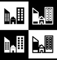 real estate sign  black and white icons vector image