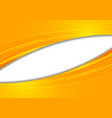 orange abstract smooth corporate waves background vector image