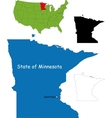 Minnesota map vector image